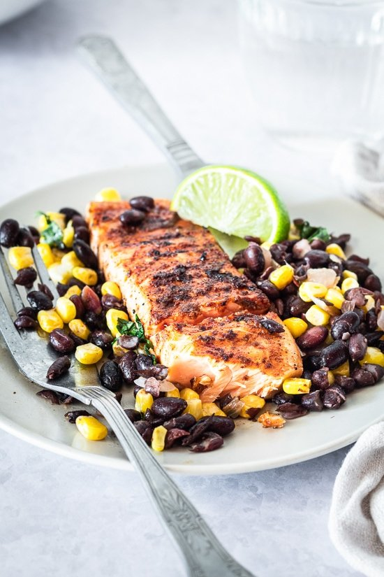 spice-rubbed-grilled-salmon-with-black-beans-and-corn
