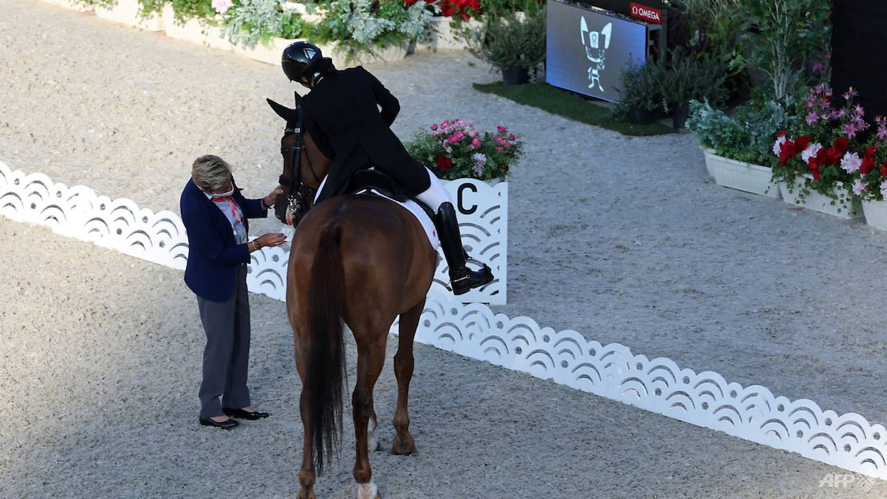 equestrian:-singapore's-caroline-chew-out-of-dressage-after-horse-suffers-'freak'-injury