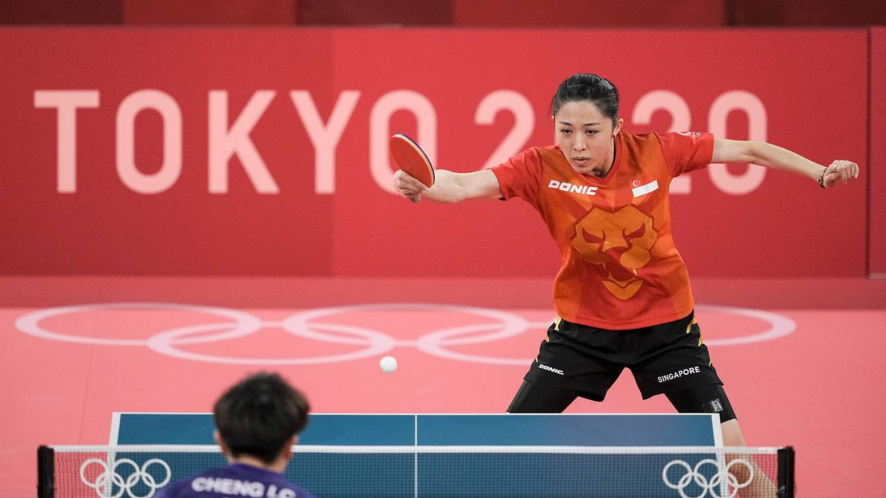 table-tennis:-yu-mengyu-sweeps-world-number-8-at-olympics,-books-place-in-round-of-16