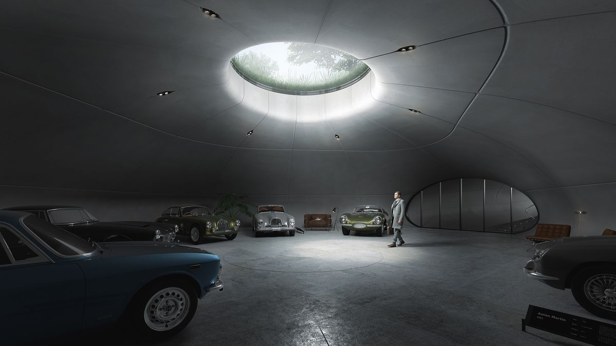 a-james-bond-inspired-subterranean-garage-that's-fit-for-a-007-superfan